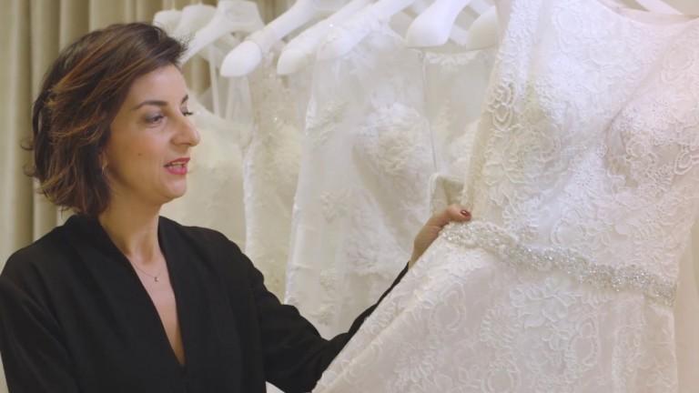 Pizzo per l'abito da sposa